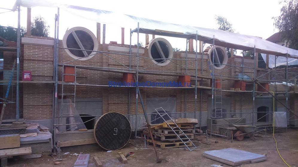 Строительство элитного кирпичного дома